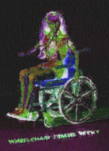 Wheelchair Zombie Becky